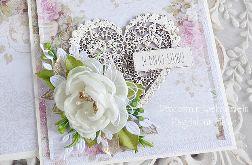 Ślubna kartka w pudełku 296
