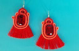 Długie czerwone kolczyki sutasz z Chwostem dla mamy