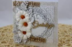 Kartka ze stokrotkami na ślub