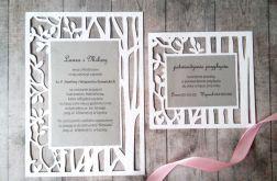 Leśne zaproszenie na ślub