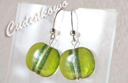 Zielone jabłuszko - szklany kaboszon