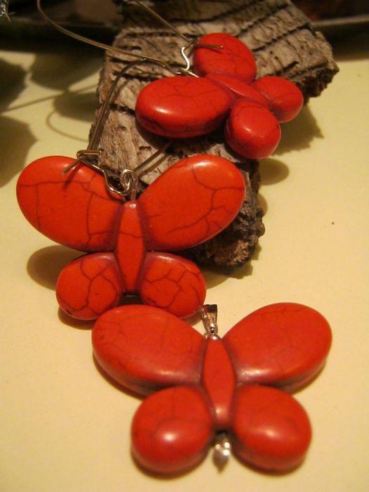 Motyle, motylki....sardonyks pomarańczowy