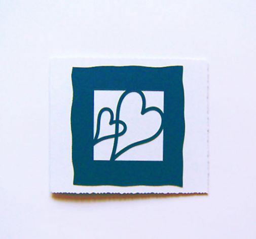 Granatowe serca-kartka okolicznościowa