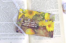 Zakładka do ksiązki -  słoneczniki