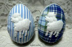Jajka w tkaninie z owieczkami 8 szt.