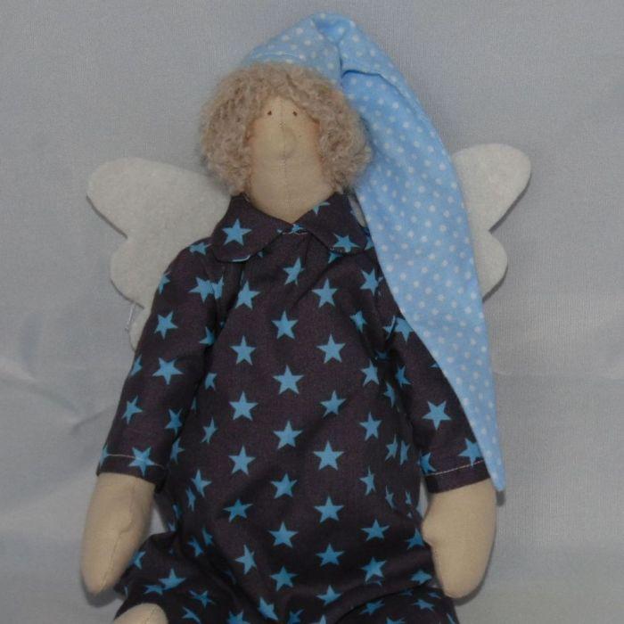 Anioł śpioch Tilda niebieski (na zamówienie)