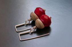 Red currant - kolczyki