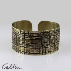 Mosiężna bransoleta - kraty 150306-02