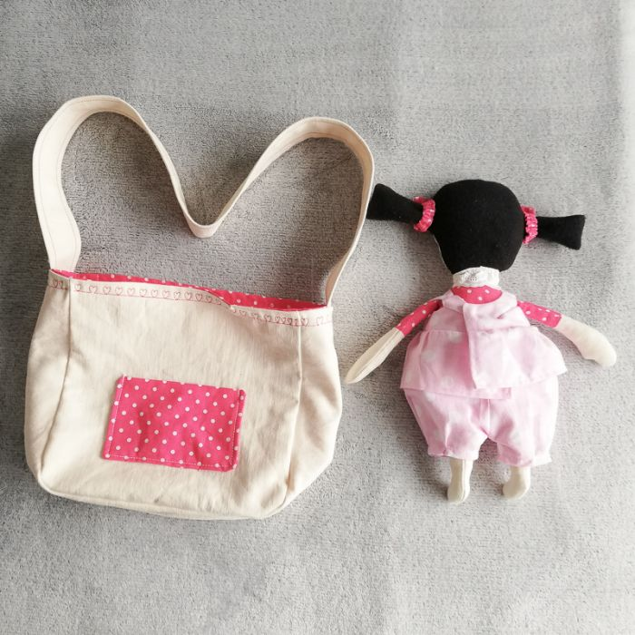 Marcysia - szmaciana lalka w torebce