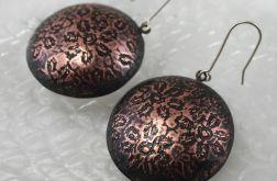 Kwiatuszki - miedziane kolczyki 180518-02