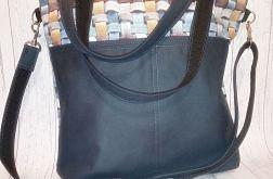 Torebka damska torba shopper 3D niebieska
