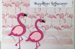 Kartka flamingi #F01R