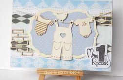 Kartka na roczek z praniem