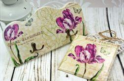 wieszak i obrazek- tulipany