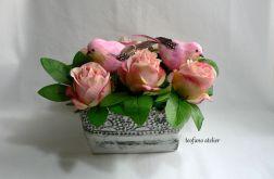 """Kompozycja """"Róże i ptaki"""""""