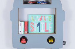 Półka na książki zabawki AUTOBUS | szary