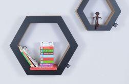 Półka na książki zabawki HEXAGON | czarny