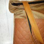Torebka damska torba shopper brąz pik