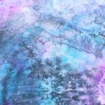 Ręcznie barwiony szal jedwabny /230/