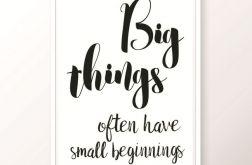 Plakat / BIG THINGS
