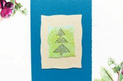 Kartka  świąteczna niebieska minimalizm 77