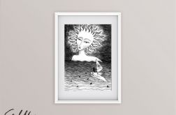 Słońce - oryginalny rysunek 9805