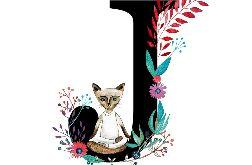 Alfabet J wydruk ilustracji