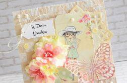 Kartka dla nastolatki - kwiaty