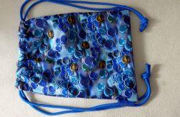 Worek - plecak Kule z niebieskimi sznurkami