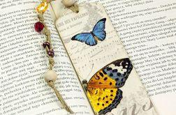 drewniana zakładka do książki- motyle