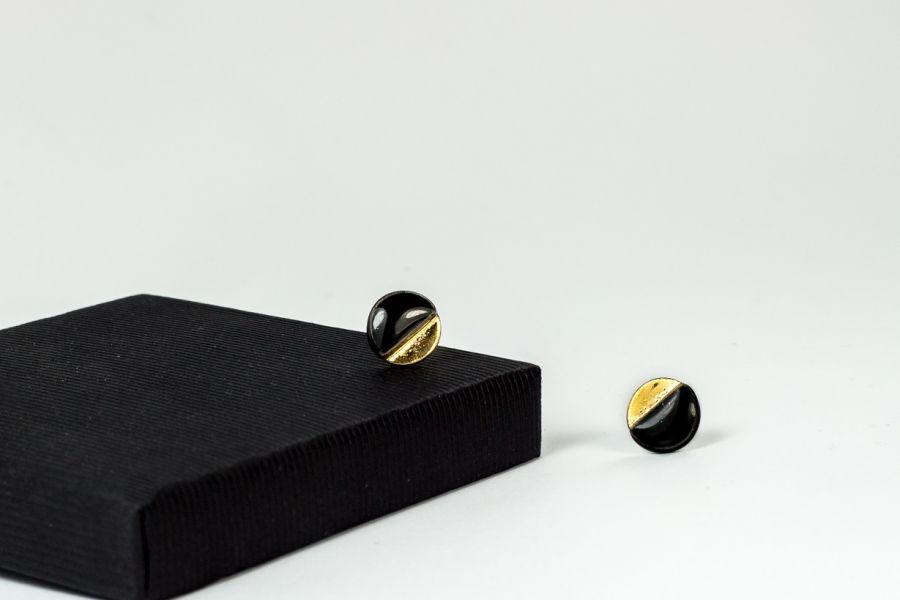 Sztyfty ceramiczne czarno-złote pastylki