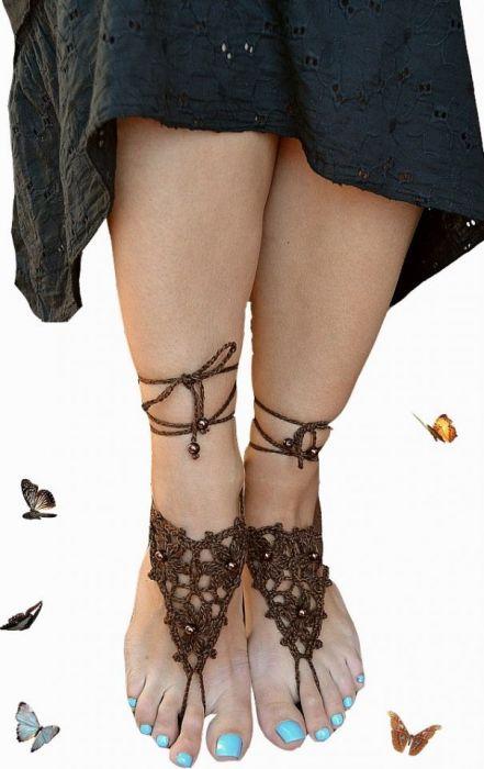 Ozdoba na stopy brązowa ;o)