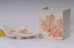 Zestaw łazienkowy Ceramiczny z Liściem