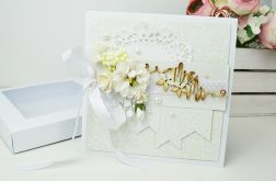 Mrs & Mr - ślubna kartka w pudełku