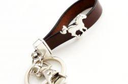 Brelok skórzany brązowy koń