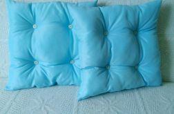 Poduszka 45x45cm pikowana niebieska