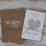 Rustykalna kartka ślubna z pudełkiem 14