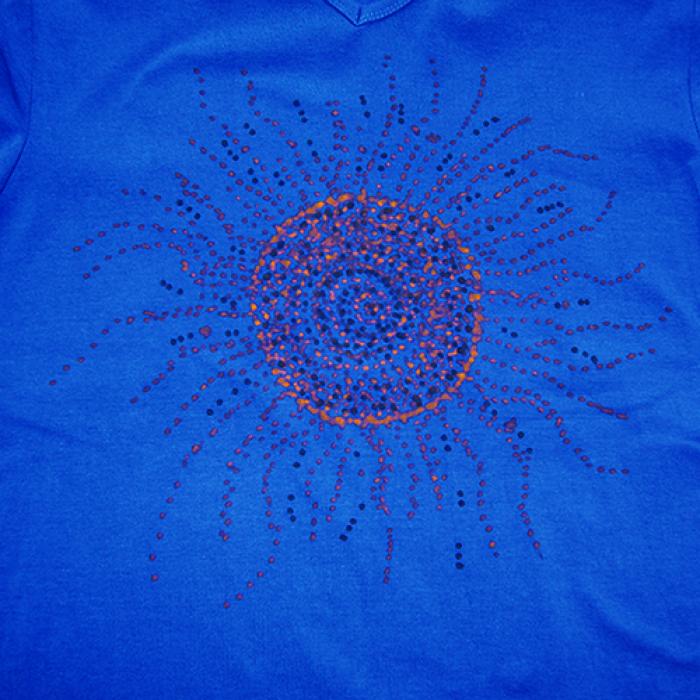 rozmiar L granatowa koszulka Ethnic sun - 5