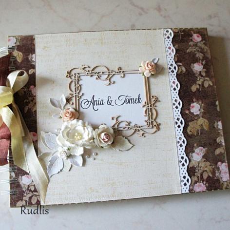 Ślubny album, rocznicowy z motywem róż#2