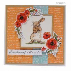 Zabawna kartka z królikami na Dzień Mamy