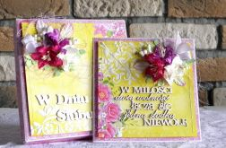 Kartka ślubna z cytatem - na żółto