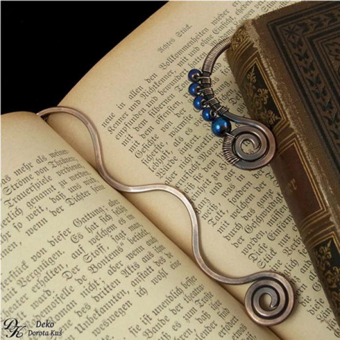 Niebieski Hematyt - Zakładka do książki