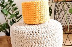 Koszyk 15x12cm, sznurek bawełniany,żółty.