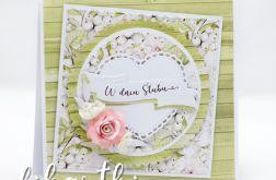 kartka ślubna z kwiatami KSK2017