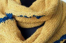 żółta musztarda z ciemnym turkusem