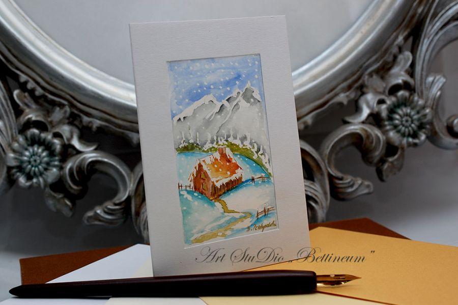 Karnet malowany ręcznie -Akwarela Nr 6-