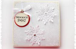 Kartka świąteczna ze śnieżynkami