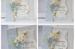 Kartka pudełko ślubne niebieska 1