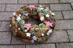 wianek Boże Narodzenie Gwiazdki natura 32cm