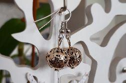 Kolczyki handmade w kolorze srebrnym